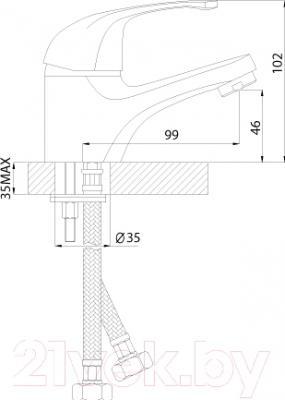 Смеситель Rossinka Silvermix C40-11 - схема