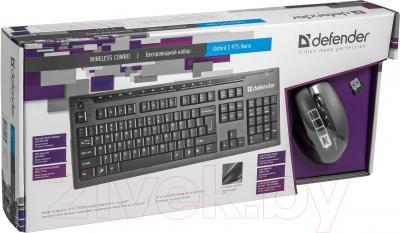 Клавиатура+мышь Defender Oxford C-975 Nano B / 45975