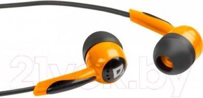 Наушники Defender Basic 604 / 63606 (черно-оранжевый)