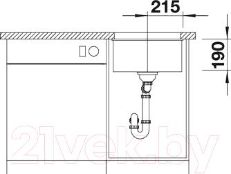 Мойка кухонная Blanco Subline 400-U (515753)