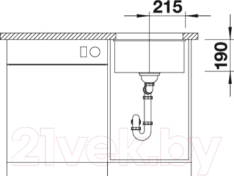 Мойка кухонная Blanco Subline 400-U (520653)