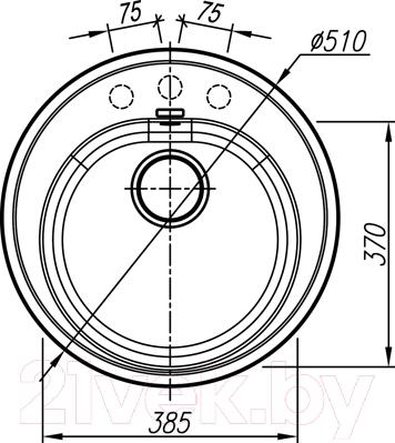 Мойка кухонная Thor Norden 51 (антрацит)