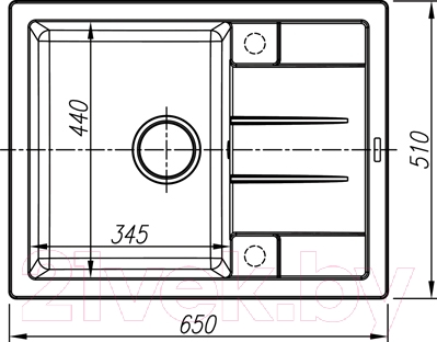 Мойка кухонная Thor Utland 65 / 80105004 (ваниль)