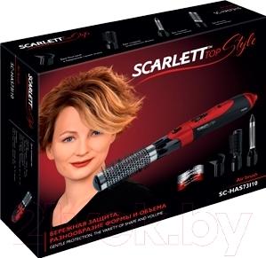 Фен-щётка Scarlett SC-HAS73I10 (черно-красный)