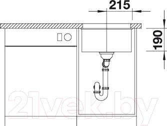 Мойка кухонная Blanco Subline 400-U (517433)