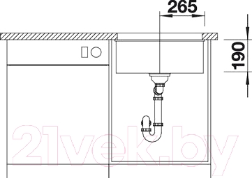 Мойка кухонная Blanco Subline 500-U (520658)
