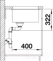 Мойка кухонная Blanco Subline 700-U Level (518391)
