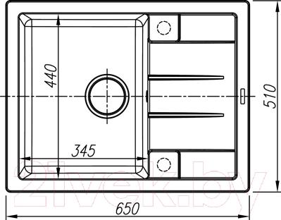 Мойка кухонная Thor Utland 65 / 80105003 (антрацит)