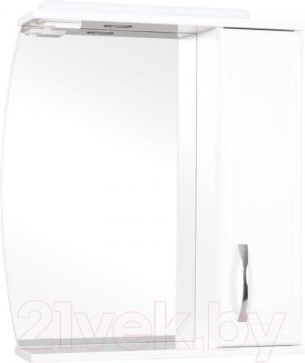 Шкаф с зеркалом для ванной Аква Родос Декор 70 R