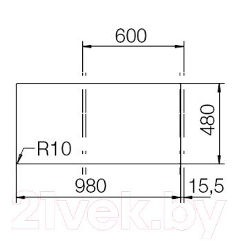 Мойка кухонная Teka Gloria 60 B-TG / 40145200