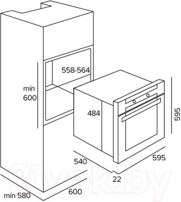 Электрический духовой шкаф Thor TH 490 W (80543011)