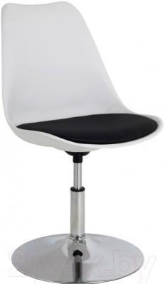 Стул офисный Halmar Coco 3 (бело-черный)
