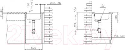 Мойка кухонная Teka BE 400/400 MTX / 10125062