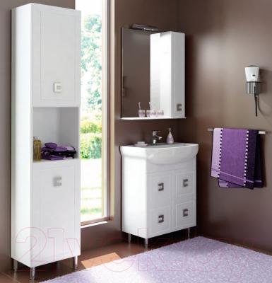 Шкаф с зеркалом для ванной Аква Родос Мобис 65 R - в интерьере