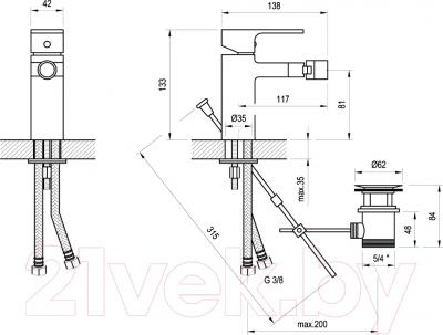 Смеситель Ravak CR 055.00 / X070055 - схема