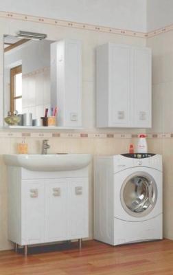 Шкаф-полупенал для ванной Аква Родос Мобис 50 - в интерьере