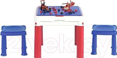 Стол+стул Keter ConstrucTable + 2 Stools (17201603)