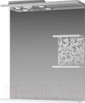 Шкаф с зеркалом для ванной Ванланд Ирис 1-65