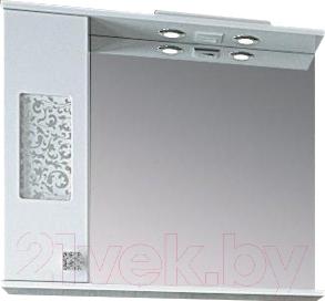 Шкаф с зеркалом для ванной Ванланд Ирис 2-65 L