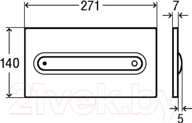 Кнопка для инсталляции Viega Visign for Style 11 (сатин хром) - схема