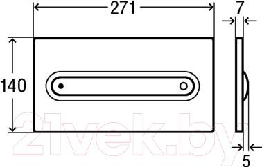 Кнопка для инсталляции Viega Visign for Style 11 (хром) - схема