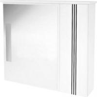 Шкаф с зеркалом для ванной Ванланд Квадро 2-70 (черный) -