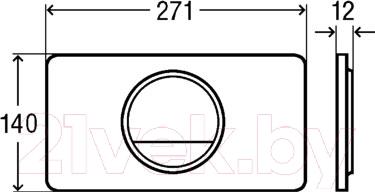 Кнопка для инсталляции Viega Visign for Style 13 (пластик, сатин хром) - схема