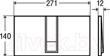 Кнопка для инсталляции Viega Visign for Style 14 (альпийский белый) - схема