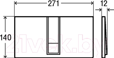 Кнопка для инсталляции Viega Visign for Style 14 (сатин) - схема