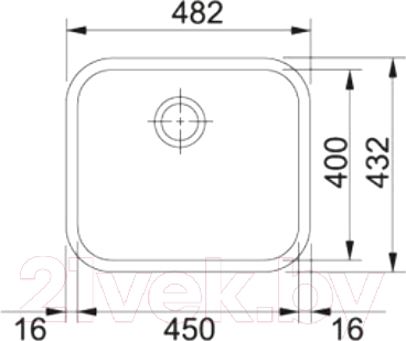 Мойка кухонная Franke GAX 110-45 (122.0021.440)