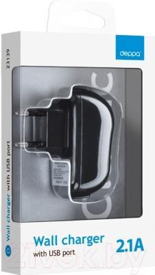 Сетевой адаптер питания Deppa 23139 (черный)