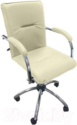 Кресло офисное Новый Стиль Samba GTP S (V-18, бежевый/металл)