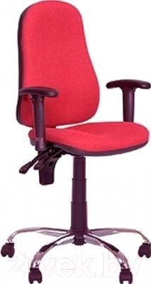 Кресло офисное Новый Стиль Offix GTR Chrome (C-16, красный/металл)