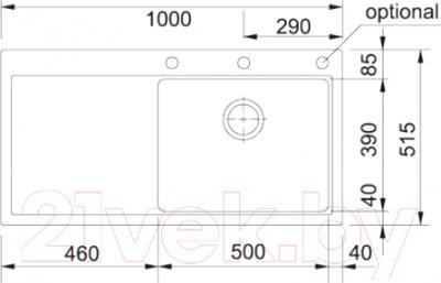 Мойка кухонная Franke MTG 611 (114.0017.838)