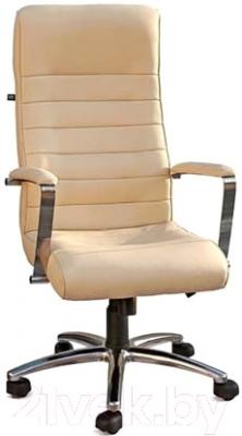 Кресло офисное Новый Стиль Florida Steel Chrome (ECO-07, бежевый)