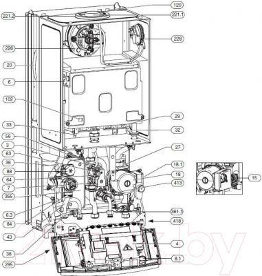 Газовый котел Bosch ZWC 35-3 MFA