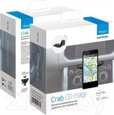 Держатель для портативных устройств Deppa Crab CD Mage 55136