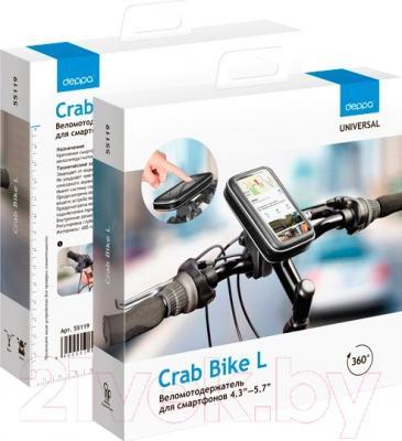 Держатель для портативных устройств Deppa Crab Bike L 55119