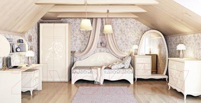 Односпальная кровать Мебель-Неман Астория МН-218-12 (кремовый)