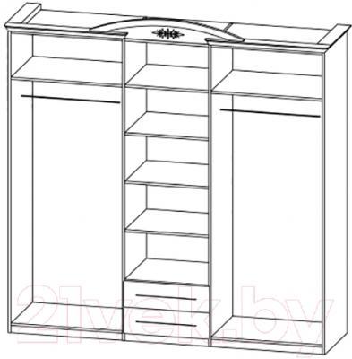 Шкаф Мебель-Неман Василиса СП-001-05 (дуб беленый/патина) - технический чертеж
