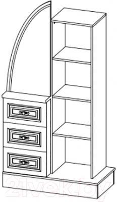 Шкаф Мебель-Неман Василиса СП-001-10 (дуб беленый/патина) - технический чертеж