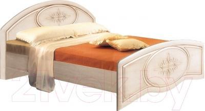 Двуспальная кровать Мебель-Неман Василиса К2-160 (дуб беленый/патина)