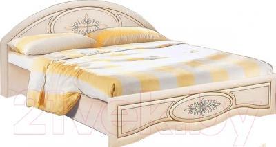 Двуспальная кровать Мебель-Неман Василиса К1-160 (дуб беленый/патина)