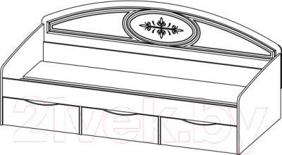 Односпальная кровать Мебель-Неман Василиса СП-001-12 (дуб беленый/патина)