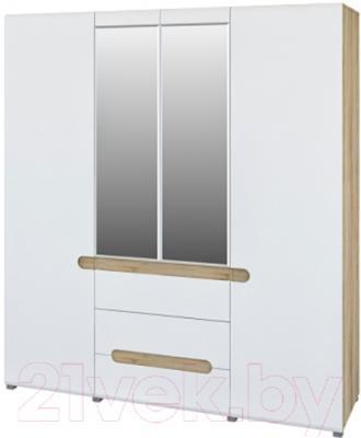 Шкаф Мебель-Неман Леонардо МН-026-09 (белый полуглянец/дуб Сонома)
