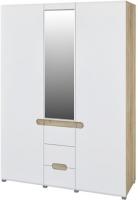 Шкаф Мебель-Неман Леонардо МН-026-08 (белый полуглянец/дуб Сонома) -