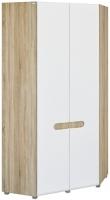 Шкаф Неман Леонардо МН-026-11 (белый полуглянец/дуб Сонома) -