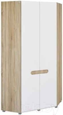 Шкаф Мебель-Неман Леонардо МН-026-11 (белый полуглянец/дуб Сонома)