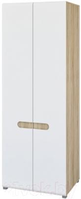 Шкаф Мебель-Неман Леонардо МН-026-22 (белый полуглянец/дуб Сонома)