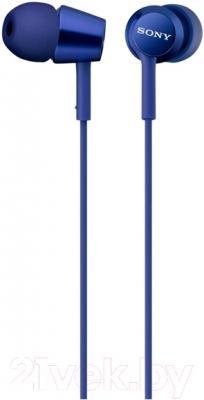 Наушники-гарнитура Sony MDR-EX150APLI (голубой)
